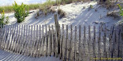 Photograph - Storm Fencing by Nance Larson
