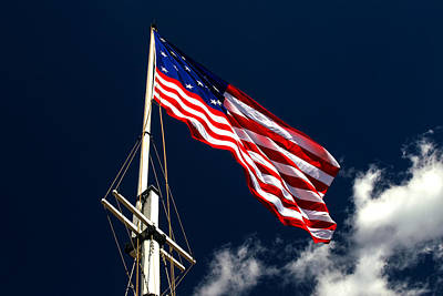 Photograph - Storm Flag At Fort Mchenry by Bill Swartwout