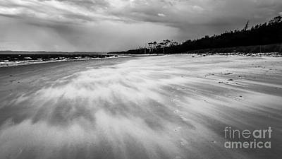 Photograph - Storm Front On The Beach by Silken Photography