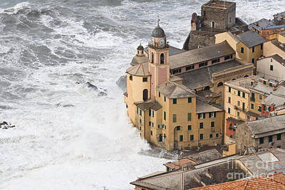 Storm In Camogli Art Print