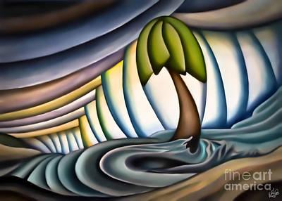 Mixed Media - Storm On The Beach by Walt Foegelle