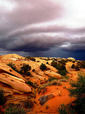 Movies Star Paintings - Storm in the Desert by Tranquil Light  Photography