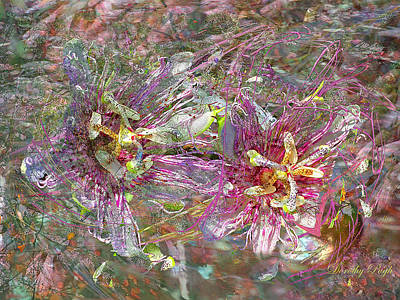 Passionflower Digital Art - Storm In The Garden by Dorothy  Pugh