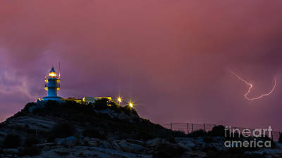 Photograph - Storm In The Lighthouse by Eugenio Moya
