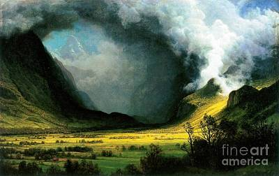 Painting - Storm In The Mountains by Roberto Prusso