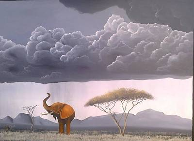 Painting - Storm In The Wild by Hilton Mwakima