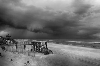 Photograph - Storm Is Approaching In Black And White by Leah Palmer