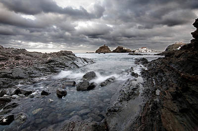 Storm Is Coming To Island Of Menorca From North Coast And Mediterranean Seems Ready To Show Power Art Print by Pedro Cardona