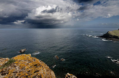 A Mediterranean Sea View From Sa Mesquida In Minorca Island - Storm Is Coming To Island Shore Art Print by Pedro Cardona