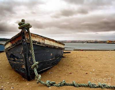 Wooden Boat Photograph - Storm Is Comming by Jose Elias - Sofia Pereira