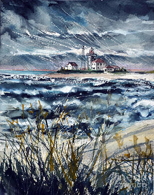 Painting - Storm On Block Island Sound by Joan Hartenstein