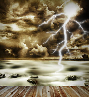 Lightning Photograph - Storm by Les Cunliffe