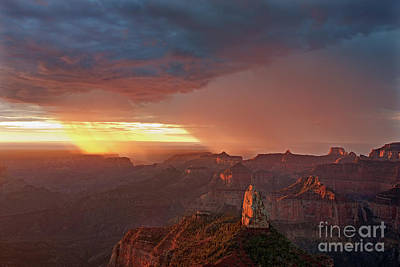 Photograph - Storm Light North Rim Grand Canyon Arizona by Dave Welling