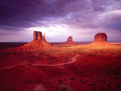 Storm Monument Valley Ut  Az Usa Art Print by Panoramic Images