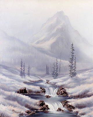 Snow Painting - Storm Mountain by Lori Salisbury