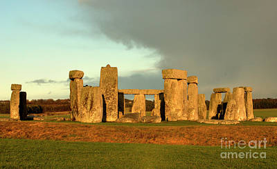 Photograph - Storm Moves Over Stonehenge by Deborah Smolinske