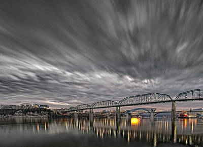 Storm Moving In Over Chattanooga Art Print by Steven Llorca