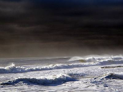 Storm Moving Out To Sea Print by Anastasia Pleasant