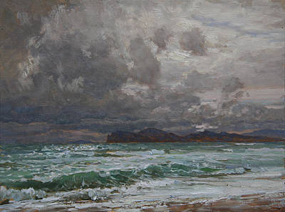 Painting - Storm On Black Sea by Korobkin Anatoly