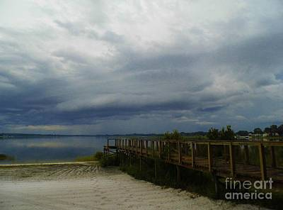 Photograph - Storm On Lake Weir by D Hackett