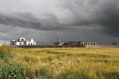 Apan Photograph - Storm On Mexican Ruined Farm by Raul Ortiz-Pulido