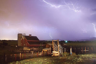 Storm On The Farm Art Print by James BO  Insogna