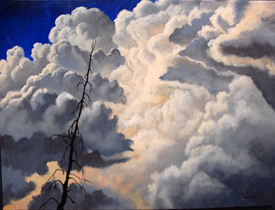 Cloud Painting - Storm On The Hoback by Lori Salisbury