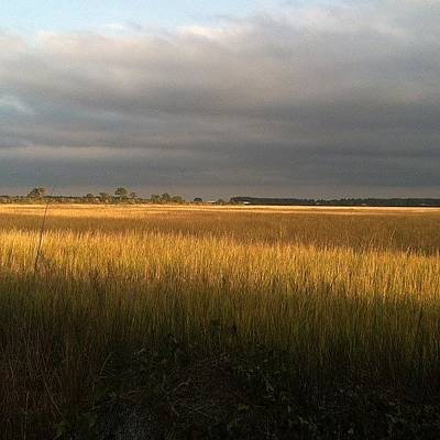 Marsh Photograph - Storm On The Horizon by Brytanie Pappas