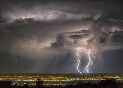 Photograph - Storm Over Albuquerque by Alan Toepfer