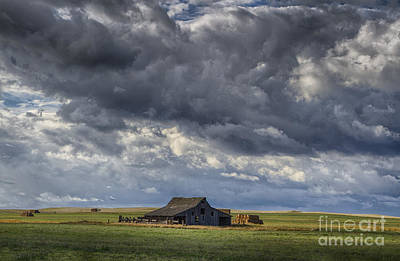 Storm Over Barn Art Print