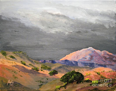 Us Capital Painting - Storm Over Capital Reef by James S Bagley