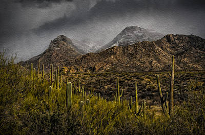 Storm Over Catalinas Aso Art Print by Mark Myhaver
