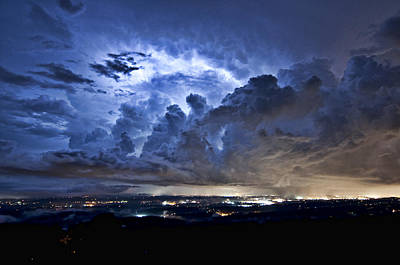 Photograph - Storm Over Chattanooga by Barry Cole