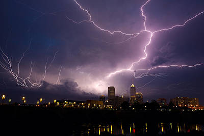 Indiana Rivers Photograph - Storm Over City by Alexey Stiop