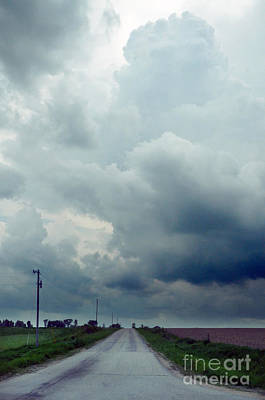 Telephone Poles Photograph - Storm Over Country Road by Jill Battaglia