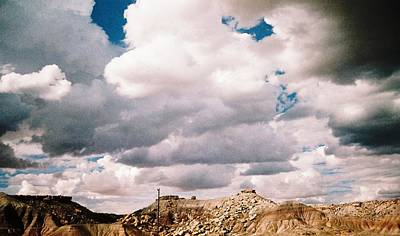 Heading Out Photograph - Storm Over Western  Desert Quarry by Belinda Lee