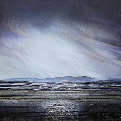 Mixed Media - Storm Over Druridge Bay Northumberland 1 by Mike   Bell