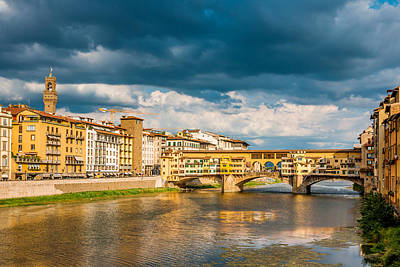 Photograph - Storm Over Florence by Gurgen Bakhshetsyan