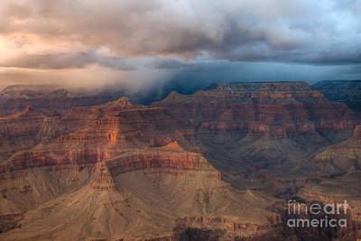 Photograph - Storm Over Grand Canyon by Clarence Holmes