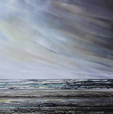 Mixed Media - Storm Over Hauxley Haven Northumberland 1 by Mike   Bell