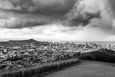 Photograph - Storm Over Honolulu by Jason Chu