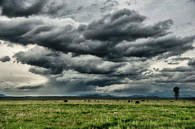 Storm Over Jackson Hole Valley Art Print by Jeff R Clow