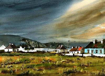 Painting - Storm Over Keel Achill  Mayo by Val Byrne