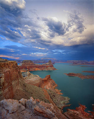Photograph - Storm Over Lake Powell by Ray Mathis