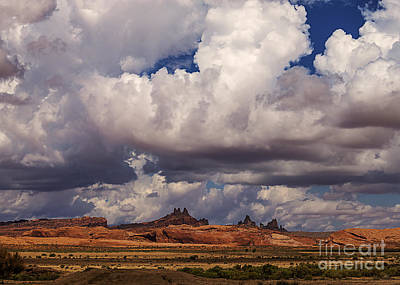 Storm Over Monument Valley Art Print by Janice Rae Pariza