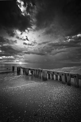 Photograph - Storm Over Naples Florida Beach by Bradley R Youngberg