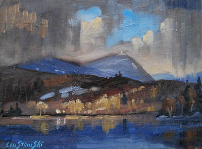 Painting - Storm Over Pontoosuc Lake by Len Stomski