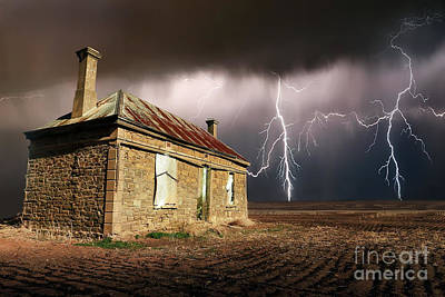 Photograph - Storm Over Ruin by Shannon Rogers