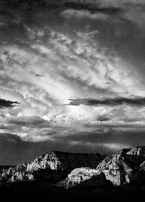 Angry Photograph - Storm Over Sedona by Dave Bowman
