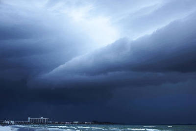Storm Over Siesta Key - Beach Art By Sharon Cummings Art Print by Sharon Cummings